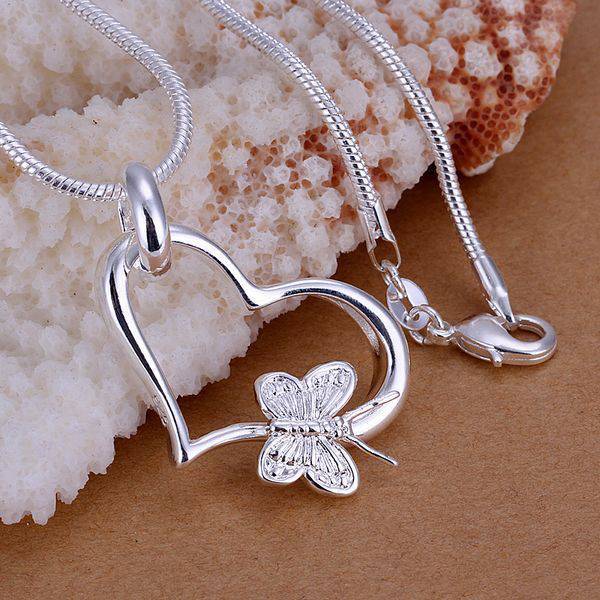 Wholesale silver plated pendant925 fashion silver jewelry butterfly wholesale silver plated pendant925 fashion silver jewelry butterfly heart pendants necklace for womenmen chain sp090 bugs tech online shop mozeypictures Images