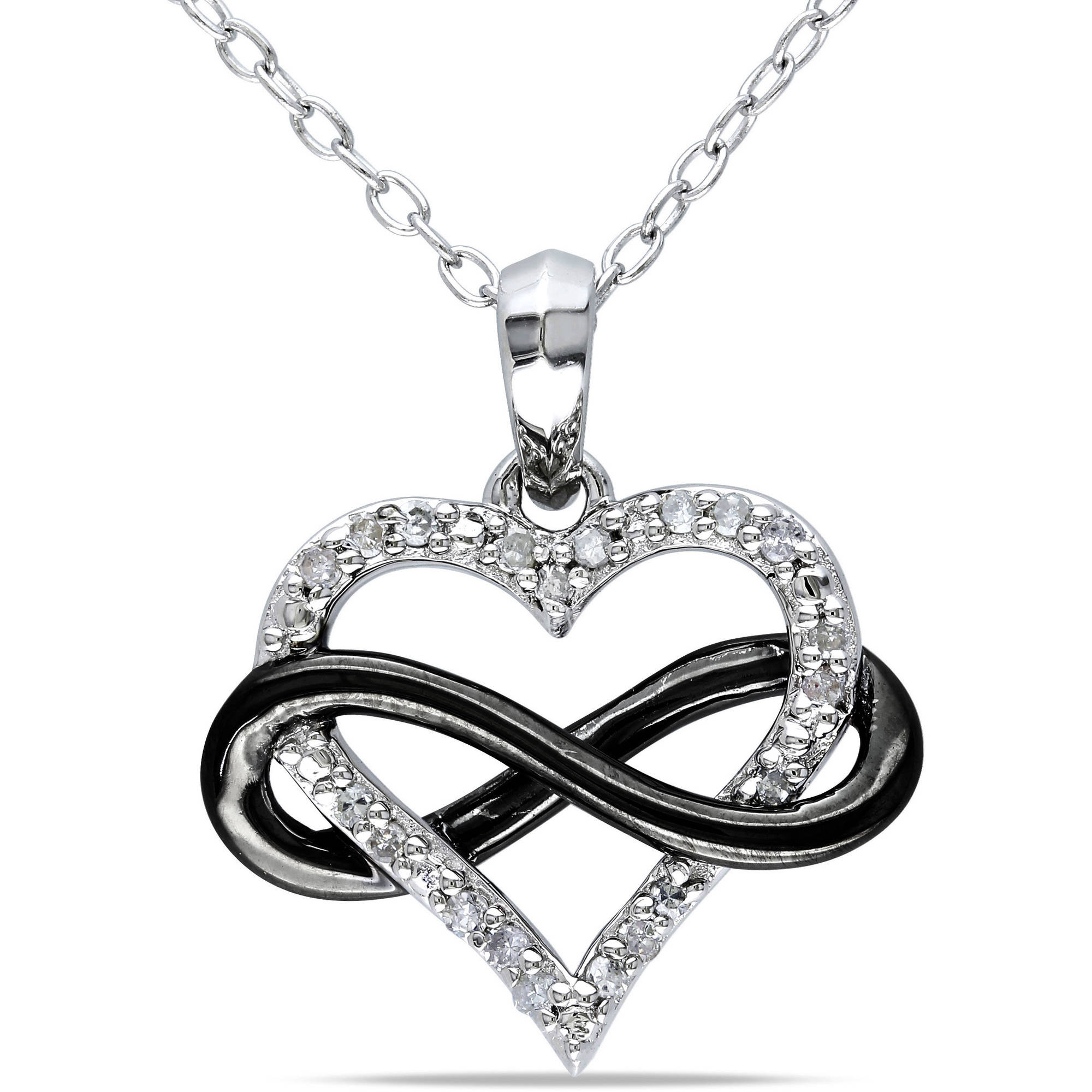 infinity zirconia front view with heirloom necklace cubic products pendant